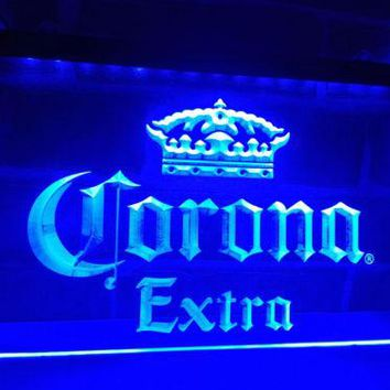 Corona Extra Beer LED Neon Light Sign Bar Club Pub Decor Home BAR Set