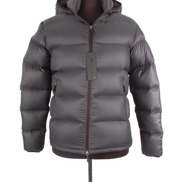 Moose Knuckles Grey Nylon Jacket
