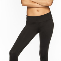 Full Tilt Sport Womens Capri Leggings Black  In Sizes
