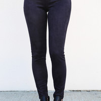 Suede Jeggings {Black/Charcoal}