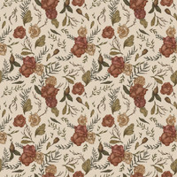 Jessica Roux's Antique Floral Pattern Removable Wallpaper