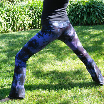 Twilight Purple Tie Dye Yoga Pants by Splash Dye Activewear