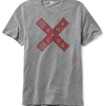 Old Navy Mens Graphic Pocket Tee