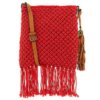 Lucky Brand Tessa Printed Macrame Cross-Body Bag | Dillards.com