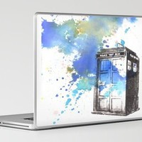 Doctor Who Tardis Laptop & iPad Skin by Idillard | Society6
