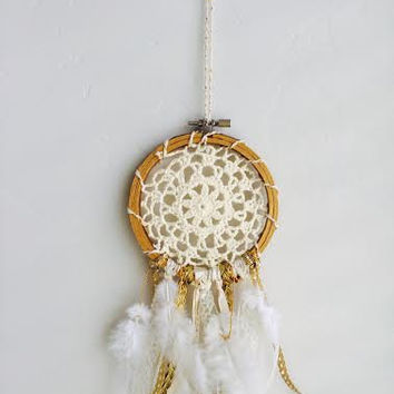 Mini Gold Dream Catcher