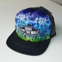 VANS OFF THE WALL 'SURF PATCH' TRUCKER HAT/CAP-SNAPBACK - BLACK
