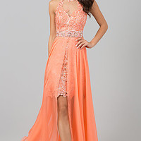 Sherri Hill High Low Prom Dress