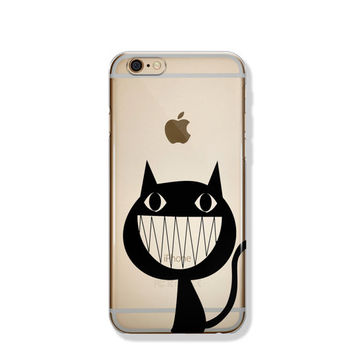 Funny Cat iPhone 6 Case Transparent Clear iPhone 6 Case Clear iPhone 6 Case iPhone SE Case iPhone 6s Case Soft Silicone iPhone Case No: 91