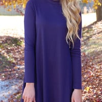 Swinging Into Fall Dress-Navy