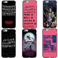 TV Stranger Things Pattern Case For iPhone 6 6S Plus 7 7Plus 8 8 Plus 5 5S SE Black Hard PC Phone Cases Cover For iPhone X 10