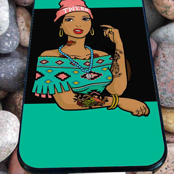 Pocahontas Hipster for iPhone 4/4s, iPhone 5/5S/5C/6, Samsung S3/S4/S5 Unique Case *76*