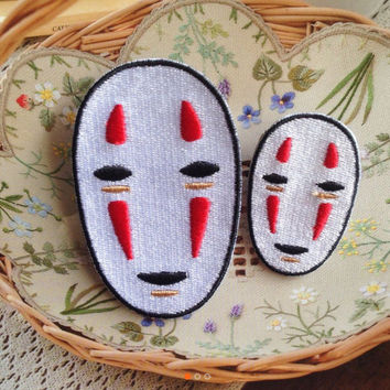 No Face Spirited Away patch Embroidered patch Iron on patch Sew on patch Applique