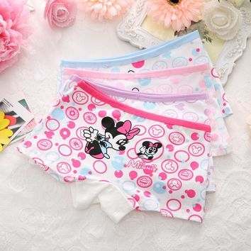 1pc Random Panties for Girls Briefs Cotton Cartoon Character Boxers Hello Kitty Minnie Underwear Underpants Panties Children