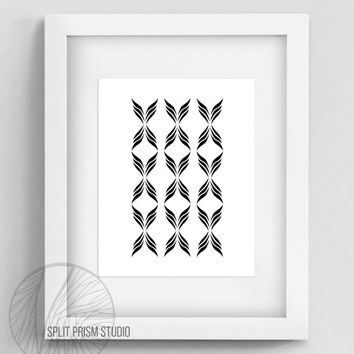 Original Art Print, Minimal, Graphic Print, Art, Wall Art, Black and White, Wings, Abstract, Modern Art, Geometric, Instant Digital Download