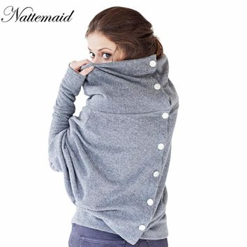 Women Casual pullovers Good Stretch Knitted Long Bat Sleeve Women gray Tops Two side wear