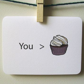 You are greater than cupcakes by 4four on Etsy