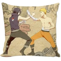 """Naruto & Sasuke"" couch pillow"