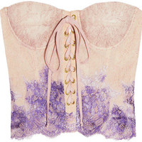 Hand-painted lace bustier by Rosamosario!