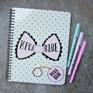 mega babe rough draft notebook