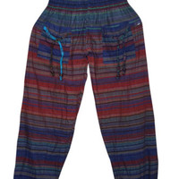 BOHO GYPSY HIPPIE HAREM PANT COTTON PRINTED BAGGY YOGA TROUSER COMFY PANTS