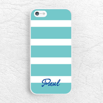 Striped Monogram name personalized Phone Case for iPhone 6 5 5s, Sony z1 z2 z3 compact, LG g2 g3, HTC one m7 m8, Moto x Moto g Monogram Case