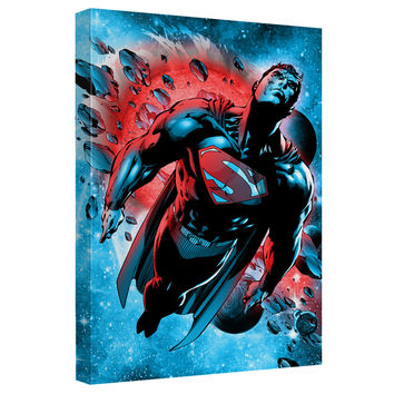 Superman Super Cosmos Stretched Canvas Wall Art