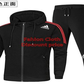Adidas Casual Sweatpants 2018 Spring Fashion Trend Clothes AK L-4XL AD529 Black Red