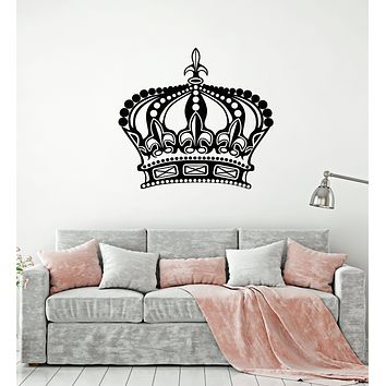 Vinyl Wall Decal King Queen Crown Royal Emperor Stickers Mural (g1388)