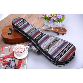 New Products-Colorful National Style Ethnic Customs Ukulele Gig Bag Backpack(Size   21 23 26 Ukulele
