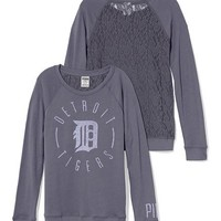 Detroit Tigers Lace-back Boyfriend Crew - PINK - Victoria's Secret