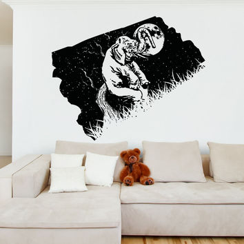 Vinyl Wall Decal Sticker Elephant at Night #OS_AA1570