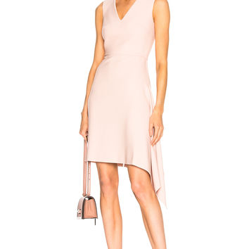 Roland Mouret Aylsham Viscose Crepe Dress in Pale Pink | FWRD