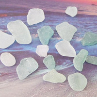 seafoam sea glass italian white seaglass mediterranean beach wedding decor craft supplies jewelry mosaic tiles mermaid tears lasoffittadiste