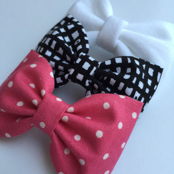 Cute set of hair bows for teens and girls from Seaside Sparrow Bows.  Hair bows for teens bow hair bow girl Seaside Sparrow bows girl