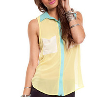 Candy Shop Tank in Yellow :: tobi