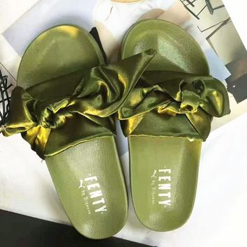 PUMA fenty rihanna silk Bow Slide Sandals Shoes sneakers spring (5-color)