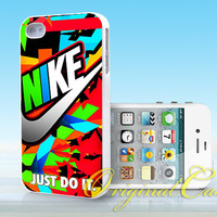 Nike Just Do It Full Color - Print on hardplastic for iPhone 4/4s and 5 case, Samsung Galaxy S3/S4 case.
