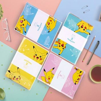 Kawaii Pikachu Notepad  Pattern Rubber Sleeve Student Cartoon Diary Planner Notebook School Stationery SuppliesKawaii Pokemon go  AT_89_9