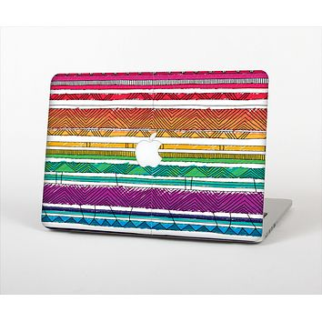 "The Crayon Colored Doodle Patterns Skin Set for the Apple MacBook Pro 15"" with Retina Display"