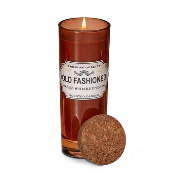 Unique Cocktail Lounge Collection Highball Glass Old Fashioned Whiskey Scented Soy Candle