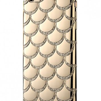 Mermaid Bling Fish Scale iPhone 6 Case in Gold