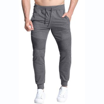 INCERUN Brand Mens Long Sportswear Sweats Pants Casual Joggers Elastic Waist Fitness Sweatpants Workout Long Tracksuit Trousers