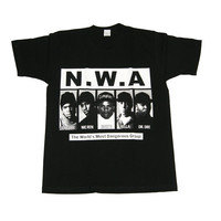 Vintage Culture NWA Tee In Black