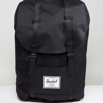 Herschel Supply Co Retreat Backpack in Black at asos.com
