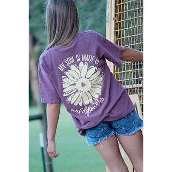 Sassy Frass My Soul is Made of Wildflowers Comfort Colors Girlie Bright T Shirt