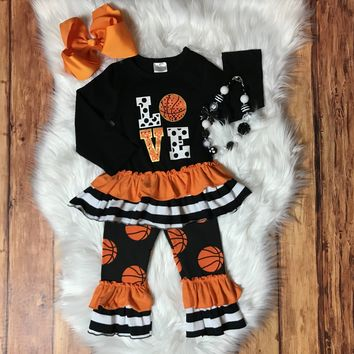 RTS Girls Basketball Ruffle Outfit D15