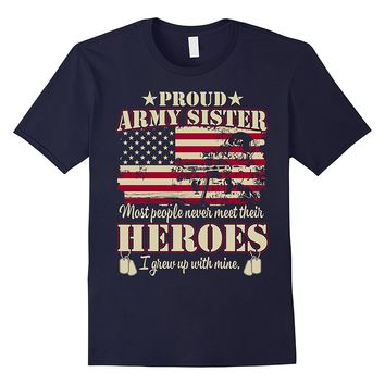 Proud US'-Army Soldier'-Military-Flag-Sister-T-shirt
