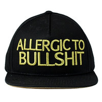 Entree LS ALLERGIC TO BS BlackGold Letters Strapback