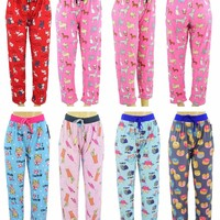 women's assorted print pajama pants - sizes s-2xl Case of 144